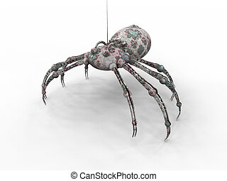 Bionic Spider - 3D rendered bionic Spider.