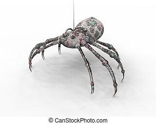 Bionic Spider - 3D rendered bionic Spider.