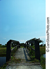 wooden bridge - old wooden bridge