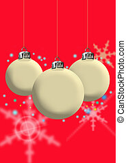 christmas baubles - christmas vector of baubles