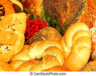 Bread - Different kinds of bread with rowan composition