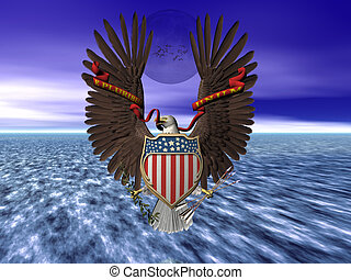 United states seal, pride and freedom. - Accipitridae, the...