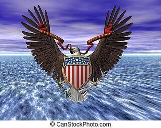 United states seal, E pluribus unum. - Accipitridae, the...