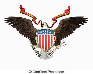 United states seal, E pluribus unum - Accipitridae, the...