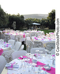 catering tables - overview of catering setup