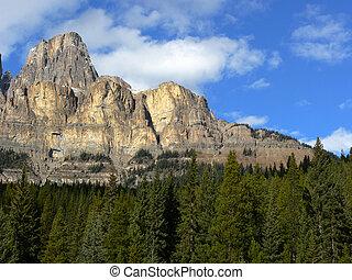 montanha, castelo, penhascos