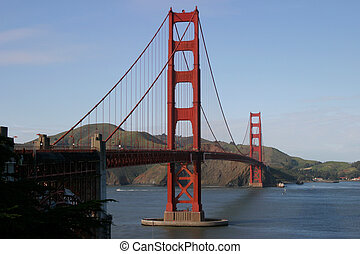 Golden Gate Bridge II - A horizontal composition of the...