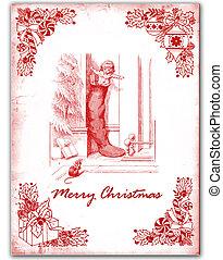 Christmas card - Old Christmas card