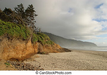 Cape Lookout Sunset - Sunset at Cape Lookout State Park on...