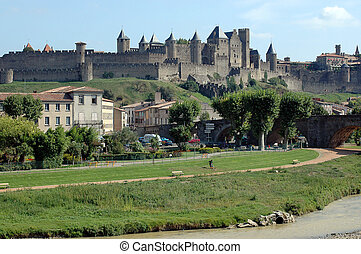 Carcassonne Castle - castle of carcassonne, france