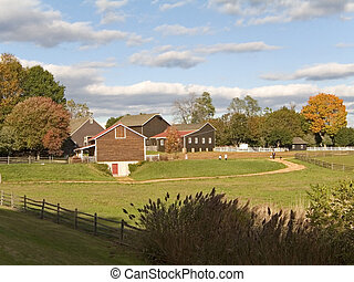 Fall Farm - This is a shot of the historic Long Street Farm...