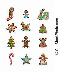 Collection of christmas cookies. - Collection of christmas...