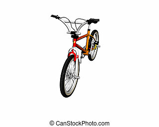 Mbx bicycle over white. - Mbx bicycle over white, 3d render...