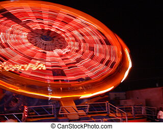 carnival ride - spinning ride at a carnival