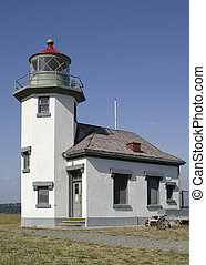 seattle area lighthouse - modern lighthouse in Northwestern...