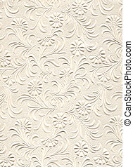 Texture Series - Embossed Flowers - Close up of embossed...