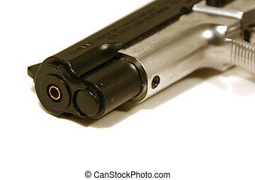 Up Close on a Gun - Close up shot on a BB Gun