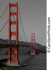 Golden Gate Bridge - A vertical composition of the GGB,...