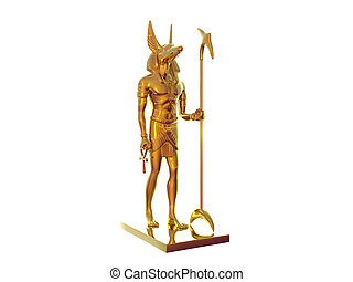 Golden Anubis - Statue of egyptian god anubis out of gold