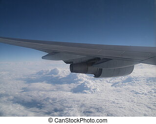Airplane wing - Wing of a 747-400