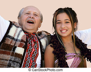 Different generation - Girl with her grandfather