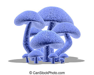 3d mushrooms #2.