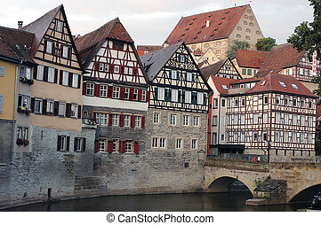 Halftimber Houses - half-timbered houses in schwäbisch...