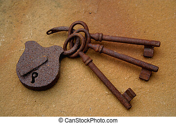 old keys and the lock