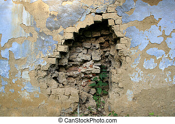 broken wall - hole in the wall