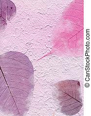 púrpura, serie, hojas,  -, textura, papel