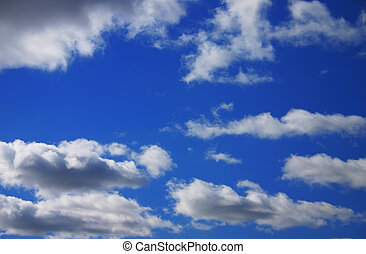 Blue Sky with Clouds - Blue sky with various clouds.
