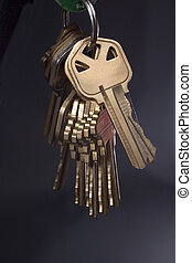Keys hanging - Set of keys on ring