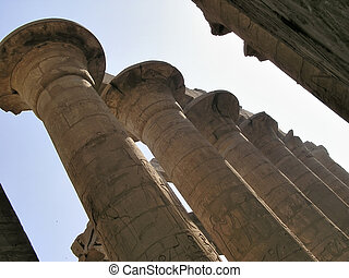 Columns of Hypostyl hall - Columns of Hypostyl hall , high...