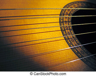 Guitar - 12 Strings - Acoustic guitar with shadow throwing...