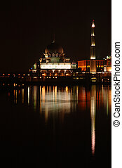 Putrajaya Mosque at night time