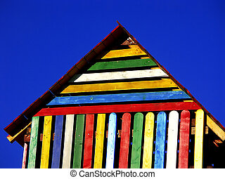 Play house - Colorful play house in the park playground