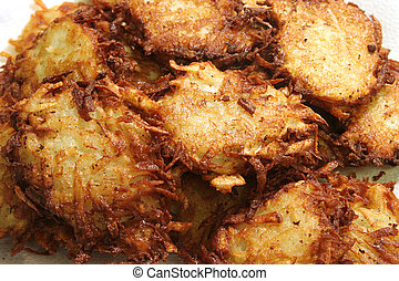 Homemade Latkes - Homemade, potato latkes (pancakes) for...