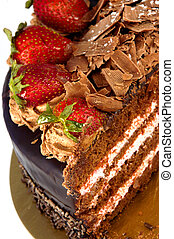 Strawberry Dessert - Strawberry Chocolate Layer Cake