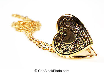 Heart Locket - Photo of a Gold Heart Locket