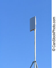 Wireless Broadband Reciever Mounted on Roof to Pick Up...