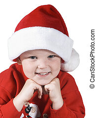 santa boy - happy santa child