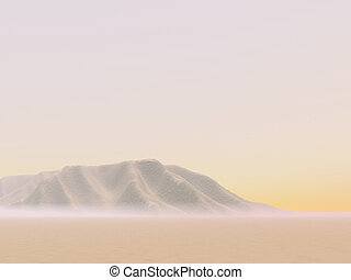 Distant Desert Dunes - Hazy dunes in the desert distance