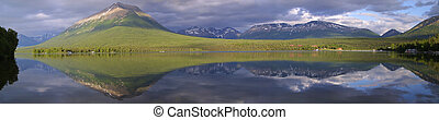 Lake Clark Panorama - Panorama taken at Lake Clark National...