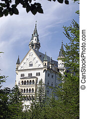 Neuschwanstein 3 - castle of neuschwanstein, bavaria,...