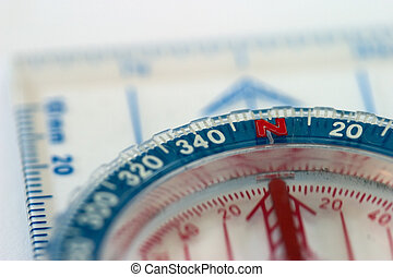 Compass Macro - Close-up of a compass, shallow depth of...