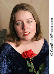 Senior Class Portrait with Rose 1