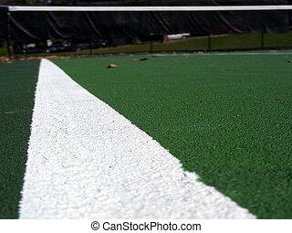 Sideline, tennis court