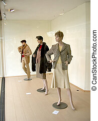 Window shopping, fashion. - Window display of the latest...