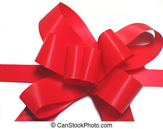 Holiday Bow - Pretty Red Holiday Bow