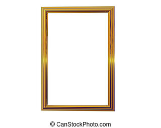 Gold Picture Frame - Isolated gold picture frame